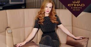 Nicole Kidman w reklamie linii lotniczej Etihad Airways